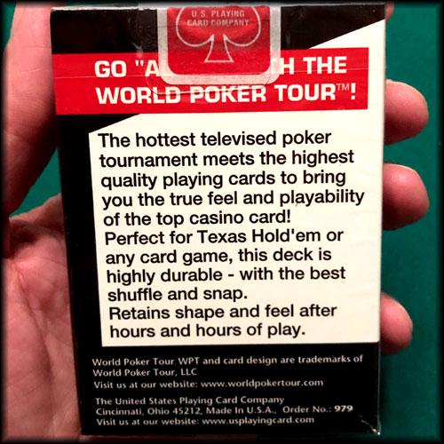 World Poker Tour Logo Black Cards