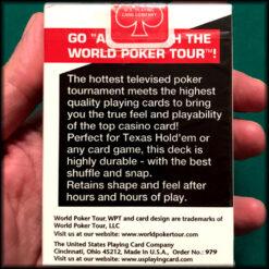 World Poker Tour Logo White Cards
