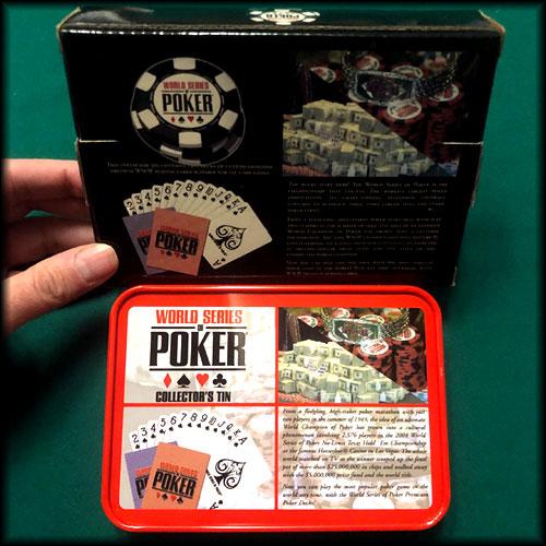 WSOP Premium Cards Collectors Tin