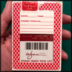 Wynn Las Vegas Jumbo Index Bee Red Cards