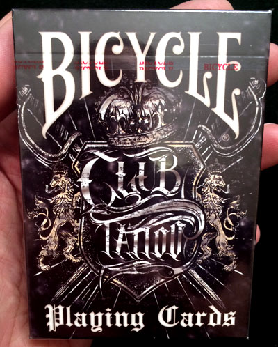 Bicycle club tattoo cards gambling incorporated for Bicycle club tattoo deck