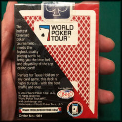 World Poker Tour Bee Red Original Cards